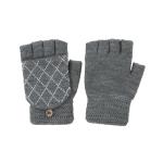 CG0352 Solid W/Crochet Flip Cover Gloves, Grey