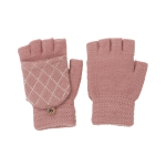 CG0352 Solid W/Crochet Flip Cover Gloves, Pink
