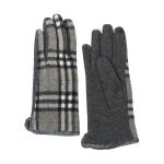 CG0353 Basic Plaid Pattern Touchscreen Gloves, Grey