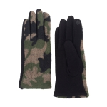 CG0356 Camouflage Pattern Touchscreen Gloves, Green
