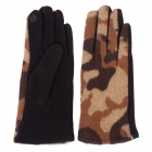 CG1701 Camouflage Pattern Touchscreen Gloves, Brown