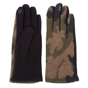 CG1701 Camouflage Pattern Touchscreen Gloves, Green