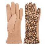 CG1710 Leopard Pattern Wrist Wrinkles Gloves