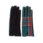 CG1731 Tartan Plaid Pattern Gloves, Green