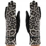 CG8007 Leopard Touchscreen Gloves, Black
