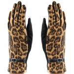 CG8007 Leopard Touchscreen Gloves, Brown