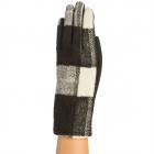 CG9002 Buffalo Plaid Print Gloves, Black