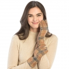 CG9006 Plaid Pattern Gloves, Camel
