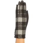 CG9006 Plaid Pattern Gloves, Black