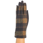 CG9006 Plaid Pattern Gloves, Navy