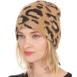 CH0712 Leopard Pattern Slouchy Beanie, Camel