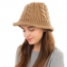 CH1903 Solid Color Cable Knit Bucket Hat, Taupe
