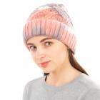 CH1905 Tie-dye Pattern Woven Beanie, Pink