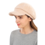 CH1939 Solid Cabby Fuzzy Hat, Beige