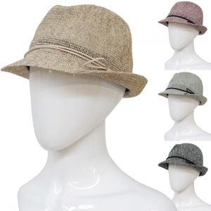 CH6313 Straw Fedora Summer Hat