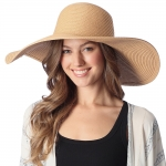 CH6319 Wide Brim Floppy Beach Hat, Natural