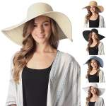 CH6319 Wide Brim Floppy Beach Hat