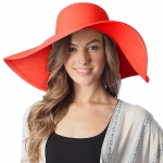 CH6319 Wide Brim Floppy Beach Hat, Red