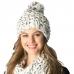 CH6401 Knitted Woven Pom Pom Beanie