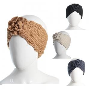 CH6406 Flower Knitted Headband