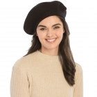 CH8202 Stretchy Knitted Beret, Black