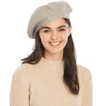 CH8202 Stretchy Knitted Beret, Grey