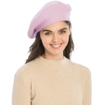 CH8202 Stretchy Knitted Beret, Light Purple