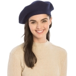 CH8202 Stretchy Knitted Beret, Blue