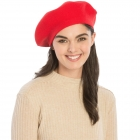 CH8202 Stretchy Knitted Beret, Red