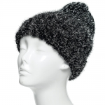 CH8208 Glittering Metallic Knit Beanie, Black