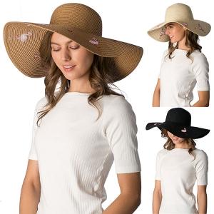 CH8453 Flamingo Straw Hat