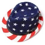 CH8454 American Flag Fedora Hat