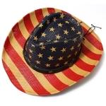 CH8455 Vintage Flag Cowboy Hat