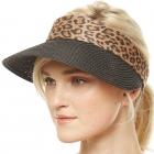 CH9301 Summer Visor Straw Hat, Black