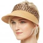 CH9301 Summer Visor Straw Hat, Natural