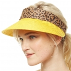 CH9301 Summer Visor Straw Hat, Yellow