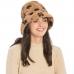 CH9404 Leopard Pattern Faux Fur Bucket Hat, Taupe