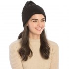 CH9409 Solid Color Knit Beanie, Black
