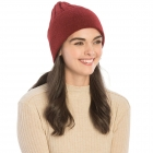 CH9409 Solid Color Knit Beanie, Burgundy