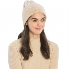 CH9409 Solid Color Knit Beanie, Beige