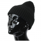 CH9413 Solid Color Knitted Beanie, Black