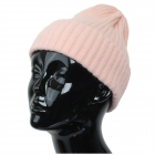 CH9413 Solid Color Knitted Beanie, Pink