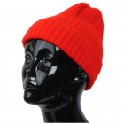 CH9413 Solid Color Knitted Beanie, Red