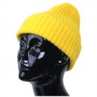 CH9413 Solid Color Knitted Beanie, Yellow