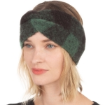 CHB001 Buffalo Plaid Pattern Soft Feel Headband, Green