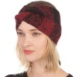 CHB001 Buffalo Plaid Pattern Soft Feel Headband, Red