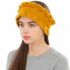 CHB1966 Ruffle Edge Winter Headband, Mustard