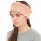 CHB1966 Ruffle Edge Winter Headband, Pink