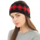 CHB1962 Multi Color Checkerboard Pattern Winter Headband, Black