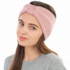 CHB1963 Solid Color Frizzy Single Knot Headband, Pink